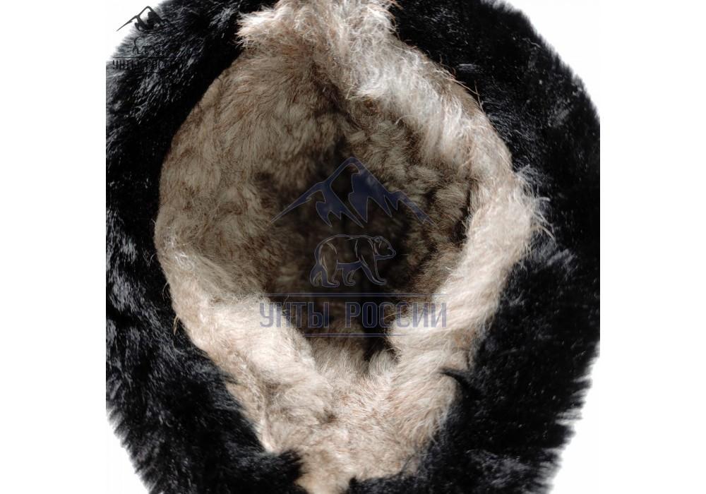 Унты детские натуральные черные, литая подошва