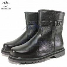 Сапоги мужские натуральные черные кожаные с замком