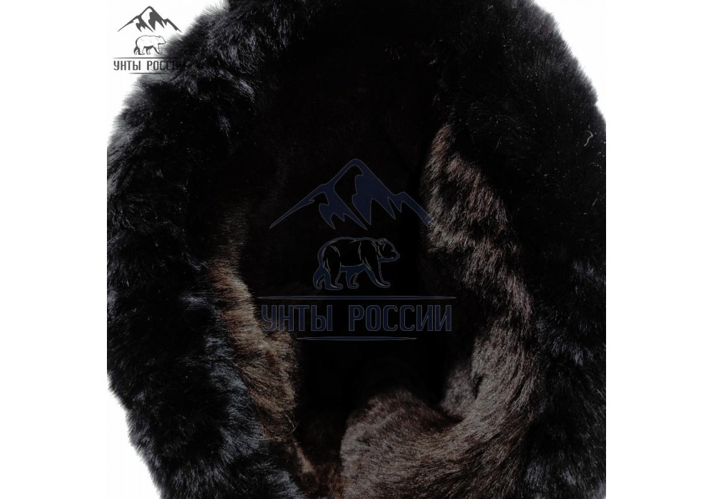 Унты мужские высокие летные черные, натуральная овчина, войлочная подошва